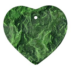 Green Geological Surface Background Ornament (heart)