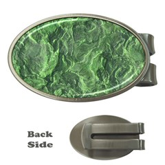 Green Geological Surface Background Money Clips (oval)