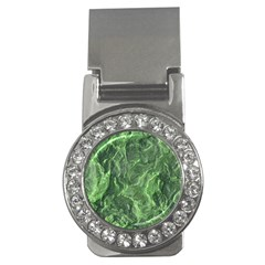 Green Geological Surface Background Money Clips (cz)