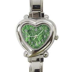 Green Geological Surface Background Heart Italian Charm Watch