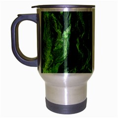 Green Geological Surface Background Travel Mug (silver Gray)