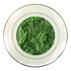 Green Geological Surface Background Porcelain Plates