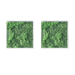 Green Geological Surface Background Cufflinks (square)
