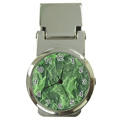 Green Geological Surface Background Money Clip Watches