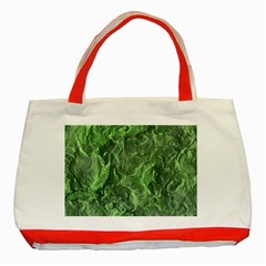 Green Geological Surface Background Classic Tote Bag (red)