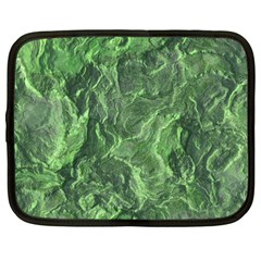 Green Geological Surface Background Netbook Case (large)