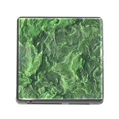 Green Geological Surface Background Memory Card Reader (square)