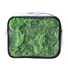 Green Geological Surface Background Mini Toiletries Bags