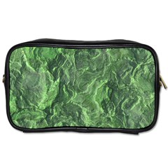 Green Geological Surface Background Toiletries Bags 2 Side