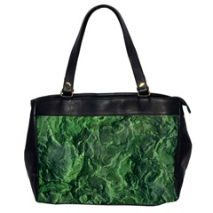 Green Geological Surface Background Office Handbags