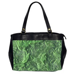 Green Geological Surface Background Office Handbags (2 Sides)