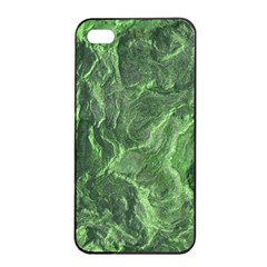 Green Geological Surface Background Apple Iphone 4/4s Seamless Case (black)