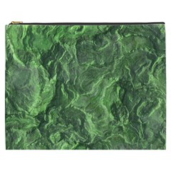 Green Geological Surface Background Cosmetic Bag (xxxl)