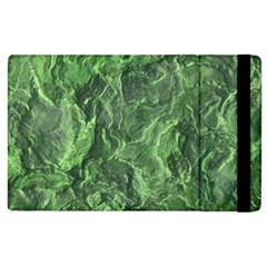 Green Geological Surface Background Apple Ipad 3/4 Flip Case