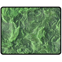 Green Geological Surface Background Double Sided Fleece Blanket (medium)