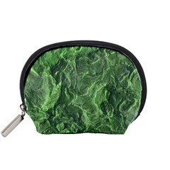 Green Geological Surface Background Accessory Pouches (small)