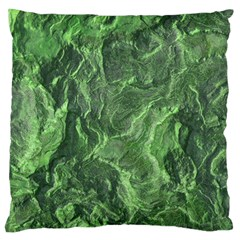 Green Geological Surface Background Standard Flano Cushion Case (two Sides)