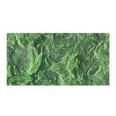 Green Geological Surface Background Satin Wrap