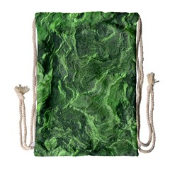 Green Geological Surface Background Drawstring Bag (large)