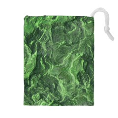 Green Geological Surface Background Drawstring Pouches (extra Large)