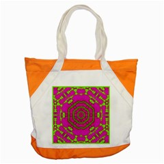 Fern Forest Star Mandala Decorative Accent Tote Bag by pepitasart