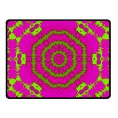 Fern Forest Star Mandala Decorative Fleece Blanket (small) by pepitasart