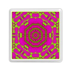 Fern Forest Star Mandala Decorative Memory Card Reader (square)  by pepitasart