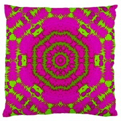 Fern Forest Star Mandala Decorative Large Cushion Case (one Side) by pepitasart