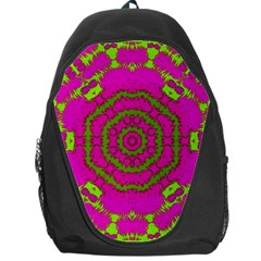 Fern Forest Star Mandala Decorative Backpack Bag by pepitasart