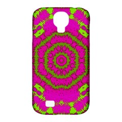 Fern Forest Star Mandala Decorative Samsung Galaxy S4 Classic Hardshell Case (pc+silicone) by pepitasart