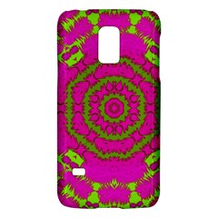 Fern Forest Star Mandala Decorative Galaxy S5 Mini by pepitasart