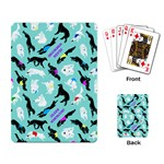 Turquoise Silken Windhound Playing Cards - Playing Cards Single Design