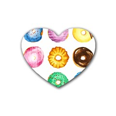 Donuts Heart Coaster (4 Pack)  by KuriSweets