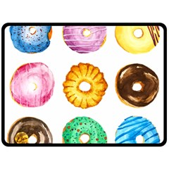 Donuts Double Sided Fleece Blanket (large)  by KuriSweets