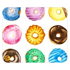 Donuts Double Sided Flano Blanket (small)  by KuriSweets