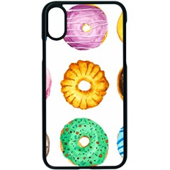 Donuts Apple Iphone X Seamless Case (black)