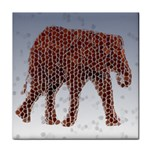 Red Elephant Calf Mosaic Tile Coaster