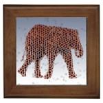 Red Elephant Calf Mosaic Framed Tile
