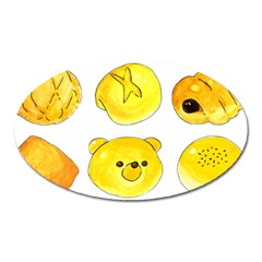 Bread Oval Magnet by KuriSweets