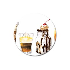 Coffee And Milkshakes Magnet 3  (round) by KuriSweets