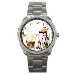 Coffee And Milkshakes Sport Metal Watch by KuriSweets