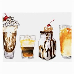 Coffee And Milkshakes Large Glasses Cloth by KuriSweets