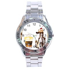 Coffee And Milkshakes Stainless Steel Analogue Watch by KuriSweets