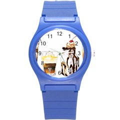 Coffee And Milkshakes Round Plastic Sport Watch (s) by KuriSweets