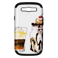 Coffee And Milkshakes Samsung Galaxy S Iii Hardshell Case (pc+silicone) by KuriSweets