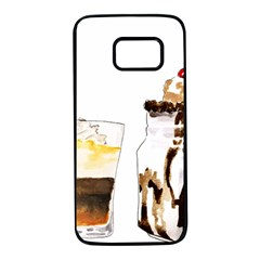 Coffee And Milkshakes Samsung Galaxy S7 Black Seamless Case by KuriSweets