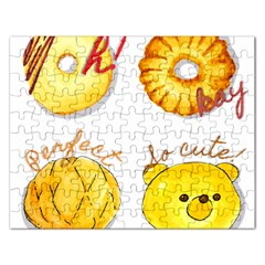 Cute Bread Rectangular Jigsaw Puzzl by KuriSweets