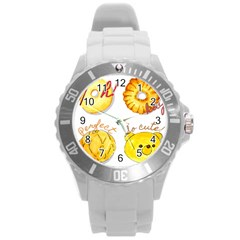 Cute Bread Round Plastic Sport Watch (l) by KuriSweets