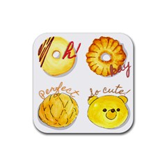 Bread Stickers Rubber Coaster (square)  by KuriSweets