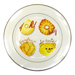 Bread Stickers Porcelain Plates by KuriSweets